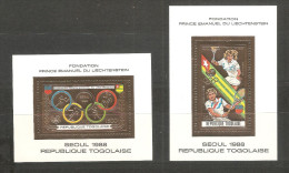 Serie En Hb Nº A-657/8  D'or Togo - Tennis