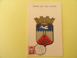 CARTE MAXIMUM CARD BLASON DE TIZI OUZOU ALGERIE - Algeria (1924-1962)