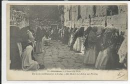 """PALESTINE - JUDAICA - 1903 - CARTE """"PLEURS DES JUIFS"""" EXPEDIEE Du BUREAU FRANCAIS De JERUSALEM - TYPE BLANC Du LEVANT - Palestina"""