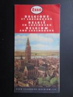CARTE ROUTIèRE ESSO (M1505) BELGIQUE Et LUXEMBOURG (2 Vues) Esso Standard 101 Avenue De France Anvers - Cartes Routières