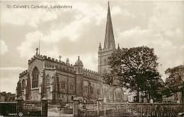 - Royaume Uni - Ref- A666 - Irlande Du Nord - Londonderry - St Columb S Cathedral - Carte Bon Etat - - Londonderry
