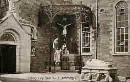 - Royaume Uni - Ref- A665 - Irlande Du Nord - Londonderry - Calvary - Long Tower Church - Carte Bon Etat - - Londonderry