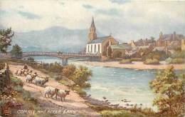- Royaume Uni - Ref- A661 - Comrie And River Earn - Carte Illustree Oilette  - Carte Bon Etat - - Royaume-Uni