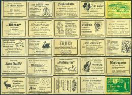 25 Alte Gasthausetiketten Aus Deutschland #158 - Luciferdozen - Etiketten