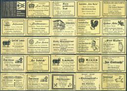 25 Alte Gasthausetiketten Aus Deutschland #159 - Luciferdozen - Etiketten