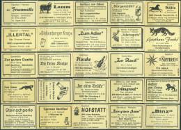25 Alte Gasthausetiketten Aus Deutschland #160 - Luciferdozen - Etiketten
