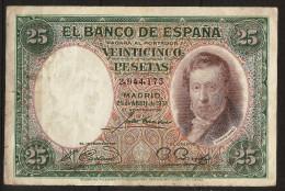 25 Pesetas 25/04/1931. Spain/ Espagne. (Vicente Lopez) - 1-2-5-25 Pesetas