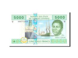 États De L'Afrique Centrale, 5000 Francs, 2002, Undated, KM:204Eg, NEUF - États D'Afrique De L'Ouest