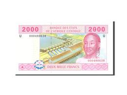 États De L'Afrique Centrale, 2000 Francs, 2002, Undated, KM:208U, NEUF - États D'Afrique Centrale