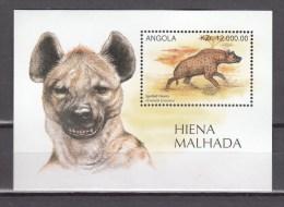 Angola 1996,1V In Block,spotted Hyena,gevlekte Hyena,MNH/Postfris(L2155) - Gibier