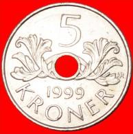 ★ORDER OF ST. OLAF: NORWAY ★ 5 KRONER 1999!  LOW START★  NO RESERVE! Harald V (1991-) - Norvège
