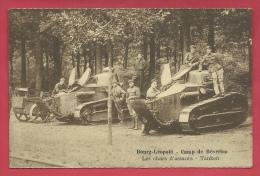 Bourg- Léopold - Camp De Beverloo - Groupe De Tankistes Belges Sur Tanks Renault  ( Voir Verso ) - Régiments