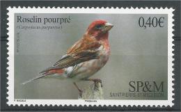 Saint Pierre And Miquelon, Bird, Purple Finch , 2016, MNH VF - Unused Stamps