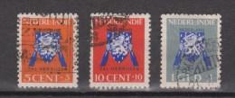 Nederlands Indie Netherlands Indies Dutch Indies 290-292 Used ; Vrij Nederland Zegels 1941 - Netherlands Indies