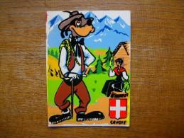 """Carte Assez Rare , Dingo En Savoie """" Carte Walt-disney Production De 1961 """""""" - Non Classés"""