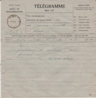 TELEGRAMME - CONGO - 16-05-1941 - Déposé à BUMBA Vers KIKWIT - Documents Historiques