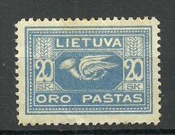 LITAUEN Lithuania 1922 Michel 176 Y ( WZ Vertical) * - Lithuania