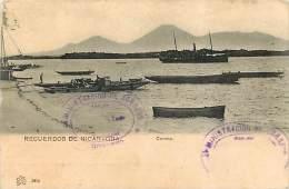 IMBARCAZIONI A CORINTO IN NICARAGUA. CARTOLINA DI INIZI '900 CON BRANO DI STORIA ROMANA SUL RETRO - Nicaragua