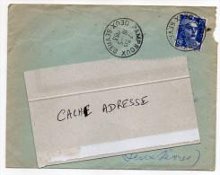 1953--Beau Cachet Manuel  PAMPROUX--79 Sur Lettre---Marianne De Gandon 15F --date 16-5-1953 - Marcophilie (Lettres)