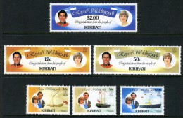 1980 - KIRIBATI - Mi. 371A/376A - NH - (REG2875.....C) - Kiribati (1979-...)