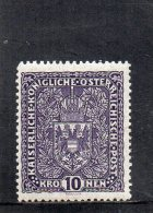 AUTRICHE 1916-8 *