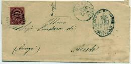 Lettera Affrancata E Viaggiata -  10 C. • Effigie Di Umberto I Entro Un Ovale • Rosso - Lombardo-Veneto