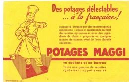 Buvard MAGGI Des Potages Délectables à La Française! POTAGES MAGGI - Sopas & Salsas
