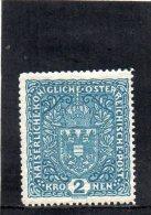AUTRICHE 1916-8 ** BLEU FONCE�