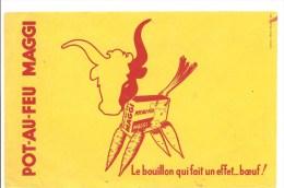 Buvard MAGGI POT-AU-FEU MAGGI Le Bouillonqui Fait Un Effet ... Boeuf - Potages & Sauces
