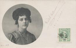 D21847 - PORTUGAL 1909 ORIG. PHOTO PC - FAMOUS AQUARELLIST - RAQUEL RACHEL ROQUE GAMEIRO - SIGNATURE - PLEASE READ - Unclassified