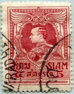 N° Yvert & Tellier 160 - Timbre Du Siam (1920) - U - Roi Vajiravudh - Siam
