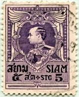 N° Yvert & Tellier 190 - Timbre Du Siam (1926) - U - Roi Vajiravudh - Siam