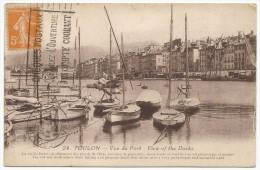 Toulon Vue Du Port 1914. - Toulon