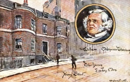 Sydney Carter  -  Homes Of Literary Men  -  William Makepeace Thackeray : Young Street   -    9098 - Tuck, Raphael
