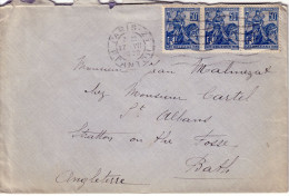 PARIS - 17-7-1929 - AFFRANCHISSEMENT A 1F50 LETTRE POUR L'ANGLETERRE. - Postmark Collection (Covers)