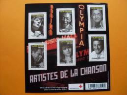 F4605 ARTISTES DE LA CHANSON FRANCAISE - Bloc De Notas & Hojas