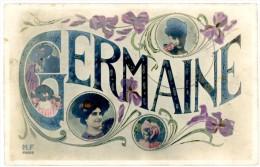 Germaine. Dames, Enfants, Violettes. Kinderen, Viooltjes. Cachet-stempel: 1919 Brussel-Bruxelles. Timbre-postzegel: 137. - Prénoms