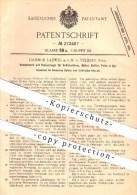 Original Patent - Damm & Ladwig MbH In Velbert , 1912 , Schloss Für Türen , Möbel , Koffer , Schlosser , Schlosserei !! - Historische Dokumente