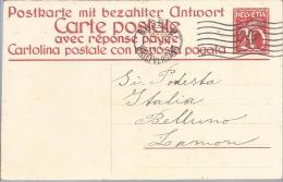 1930 Svizzera - Cartolina Postale Con Risposta Pagata - Basel Per Lamon - Marcophilie