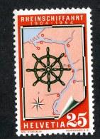 9790  Swiss 1954  Michel #595*  ( Cat. .65€ ) - Ungebraucht