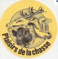 Autocollant  PLAISIR DE LA CHASSE Chasse Chasseur  Cerf Sanglier Canard - Stickers