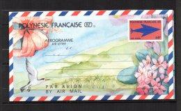 POLYNESIE - 2 Aérogrammes De 1989/90 TTB - 2 Scans - Aérogrammes