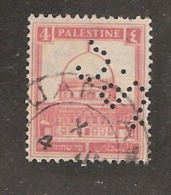 Perforé/perfin/lochung Palestine YT 65 Mi 54   A.P.C.  Anglo Palestine Co - Palestine