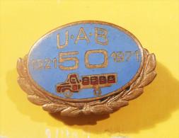 UAB Transport Company -TRUCK Camion LKW  / Vintage ENAMEL BADGE - Transports
