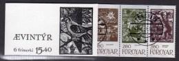 FAROE ISLANDS - 1984 SAGA FAIRY TALES SLOT BOOKLET CTO WITH FIRST DAY CDS FINE USED - Féroé (Iles)