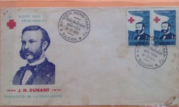 FDC South Vietnam Viet Nam 1960 : Henry Dunant / Red Cross Anniversary / Collection Break - Vietnam