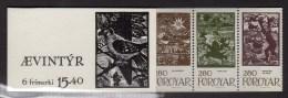 FAROE ISLANDS - 1984 SAGA FAIRY TALES SLOT BOOKLET Kr 15.40 FINE MNH ** - Féroé (Iles)