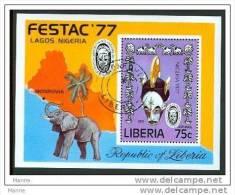 """-Liberia-1977-""""FESTAC ´77"""" (o) - Liberia"""
