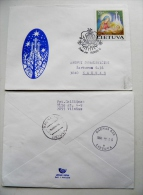 Cover Sent From Lithuania 1994 Vilnius Special Christmas Cancel Fdc Noel Navidad