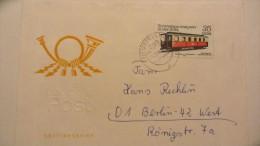 DDR: A-Brief Mit 35 Pf Schmalspurbahn Ost. NEUSTRELITZ Vom 10.12.80 Auf FDC-Umschlag Nach BERLIN-WEST Knr: 2565 - DDR